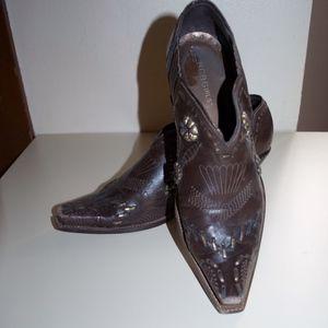 BCBGirls Brown Western Cowgirl Booties